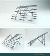 Mounting system for 20 solar modules