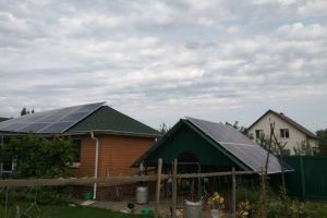 "Grid-tie solar system with a capacity of 7 kilowatts ""green tariff"", the Kiev region, Starie Petrovtsi"