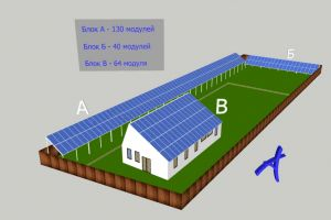 "Grid Solar power system 30/30 + 30/37 kW ""green tariff"", Kiev region, Hotyanovka"