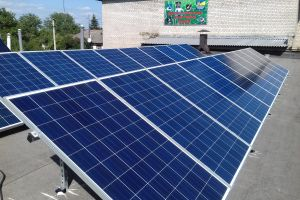 Solar collector and grid solar station 5 kW for solar consumption compensation, Donetsk region, Popasnaya