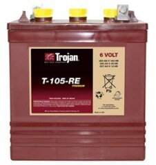 Battery deep cycle TROJAN T-105 RE (6V-225АH)