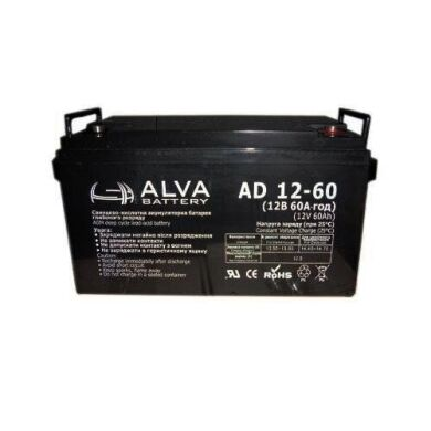 Accumulator Alva battery AD12-60 (12V 60AH)