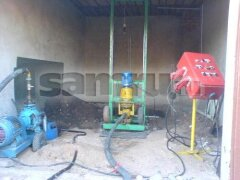 Drilling wells for water in the pit, garage or Podwale